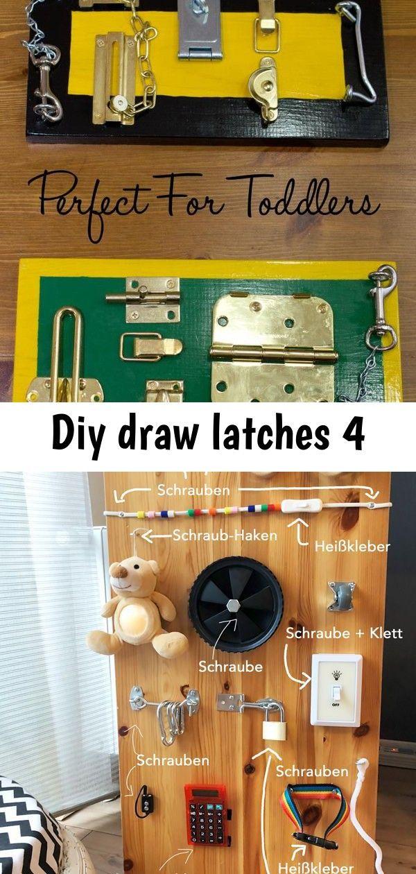 Diy draw latches 4 | Diy, Latches, Flip clock