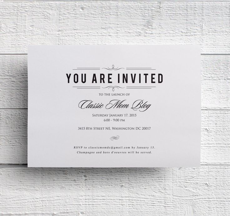 Corporate Invitation  Business Event Invitation