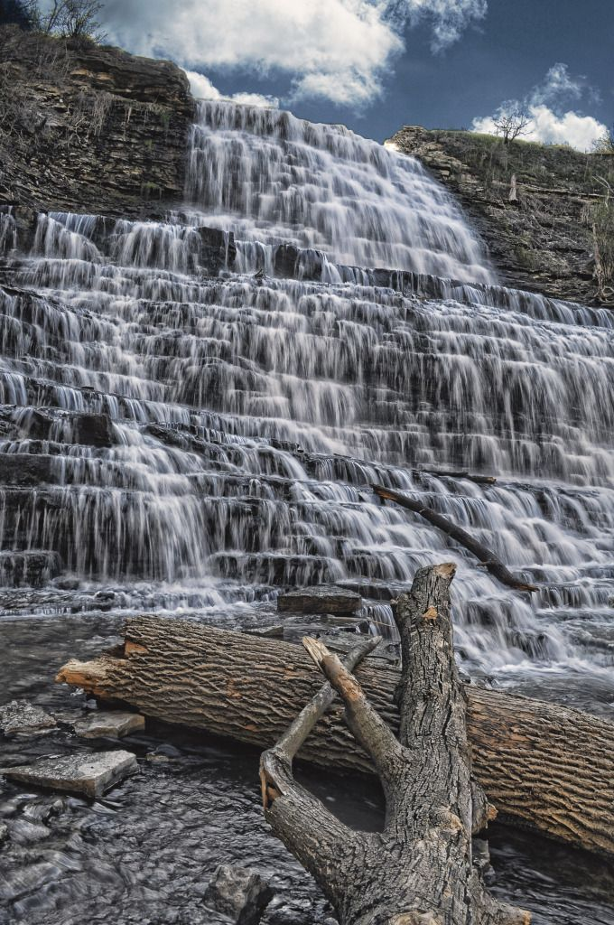 Albany falls in Hamilton, Ontario @Matthew Hillier we must go here with @Amy Baillie & Steve!