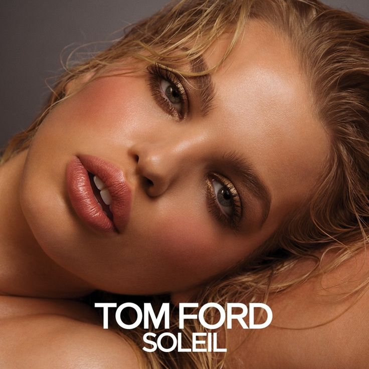 Daphne Groeneveld models her signature pout in Tom Ford Soleil Beauty campaign. Photo: Inez & Vinoodh