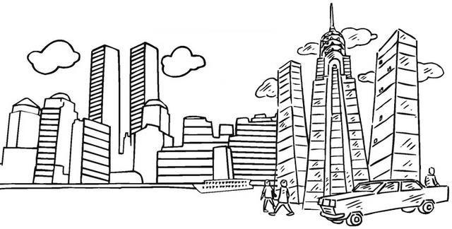 Metropolitan Skyscraper Coloring Page Coloring Pages For Kids Coloring Pages Train Coloring Pages