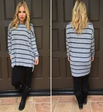stylish women knitwear style long sleeve striped sweater for Autumn wholesale sweater  Best Buy follow this link http://shopingayo.space