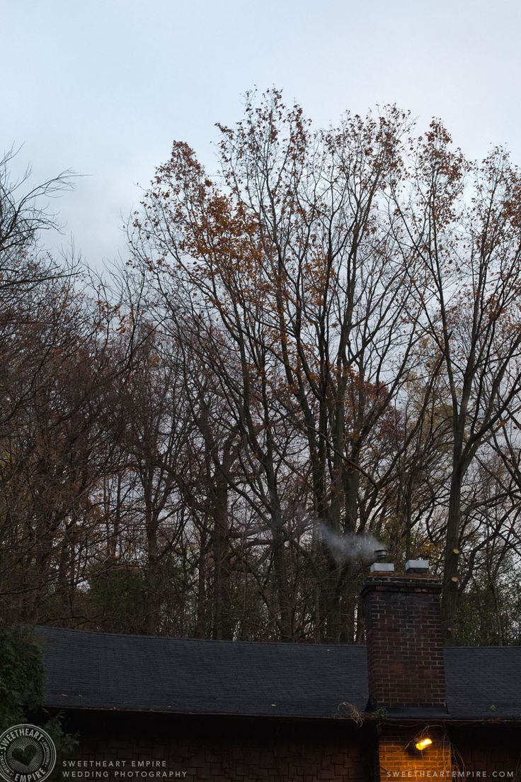 Fantasy Farm Wedding - Smoke coming out of chimney at wedding venue. #sweetheartempirephotography