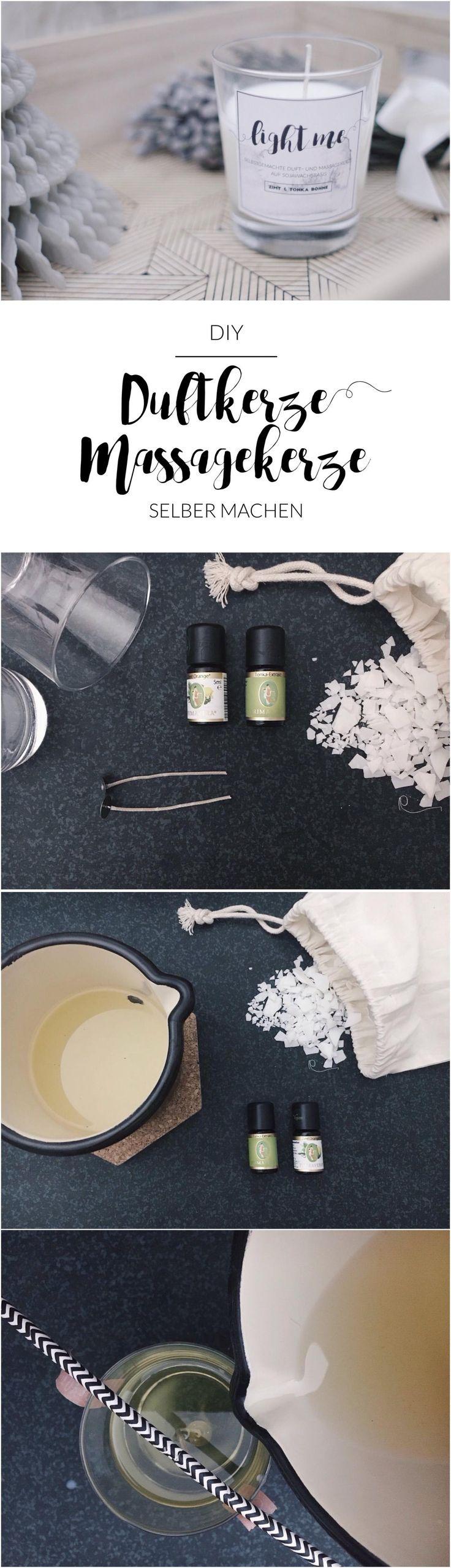 Duftkerze / Massagekerze selber machen | selbstgemacht | Geschenk | Weihnachtsgeschenk | einfach | Freebie