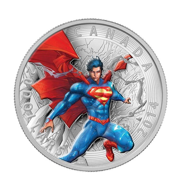 2014 1 oz. Fine Silver Coin - Iconic Superman™ Comic Book Covers: Superman Annual #1 from 2012.  Inspired by the cover of Superman Annual #1, Superman is depicted in all of his greatness.