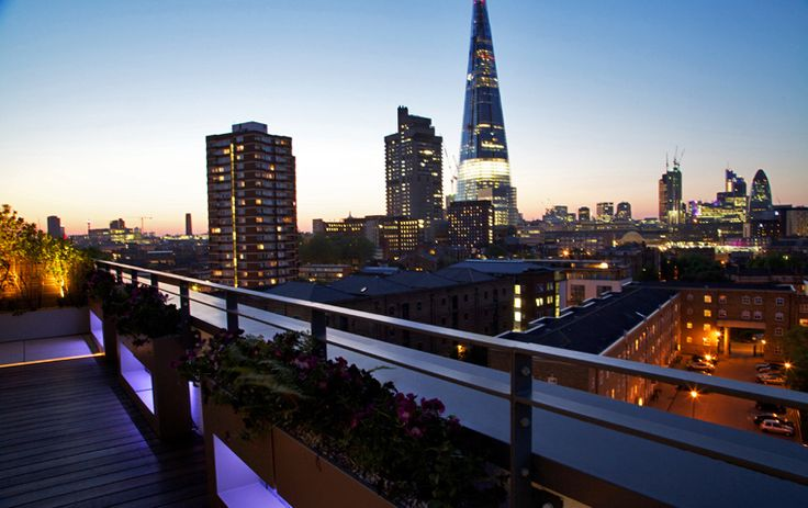 Bermondsey Roof Terrace With View Of Shard And Gherkin