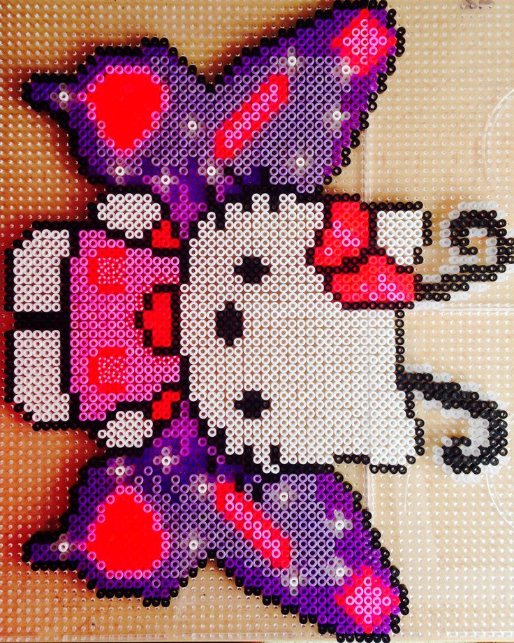 Butterfly Hello Kitty hama perler beads by Pernille Rex