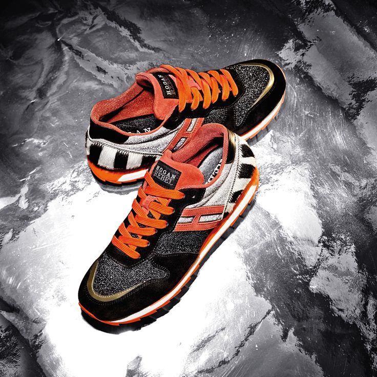 #HOGANREBEL R261 sneakers for a glamorous woman. #HOGANClub #HOGANClubbingAt