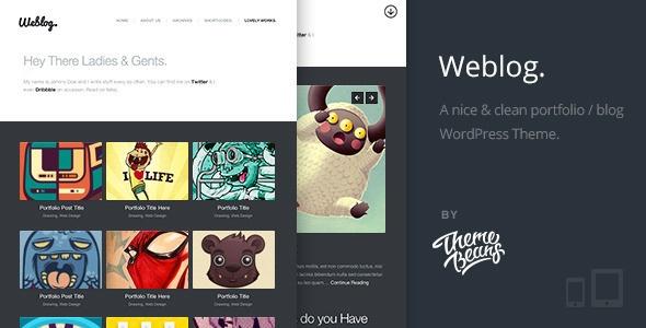 Download Weblog A Creative's Portfolio - Blog Theme