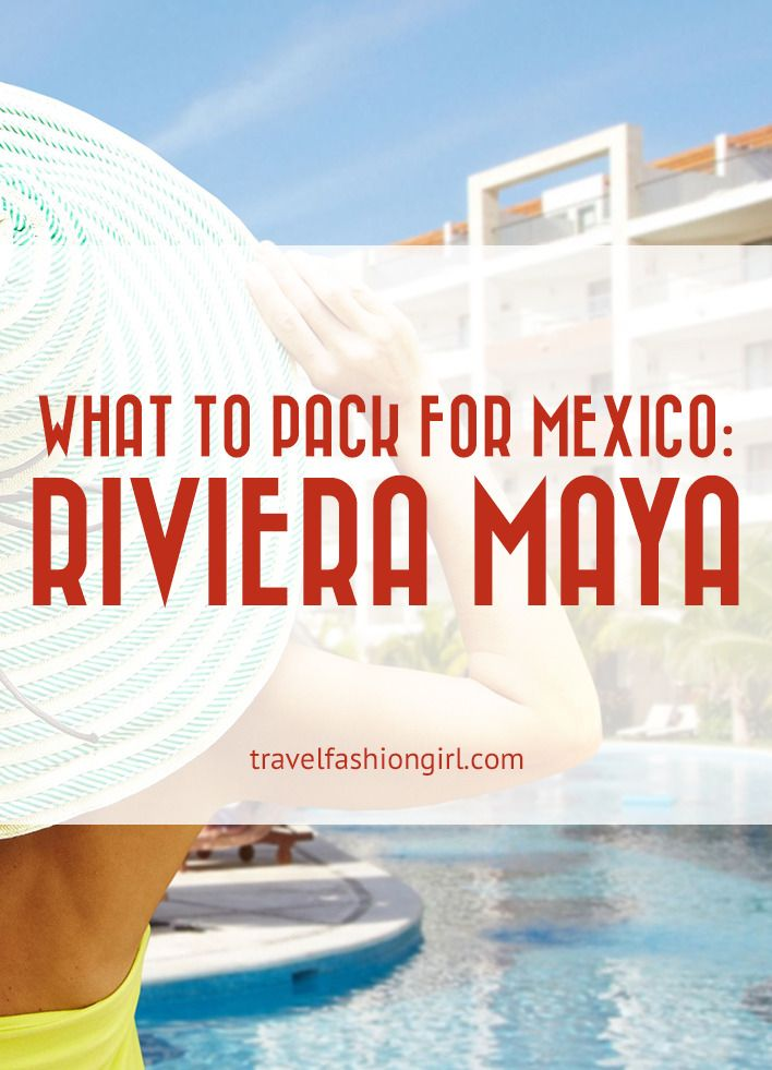 10 Piece Packing List for Vacation in the Riviera Maya
