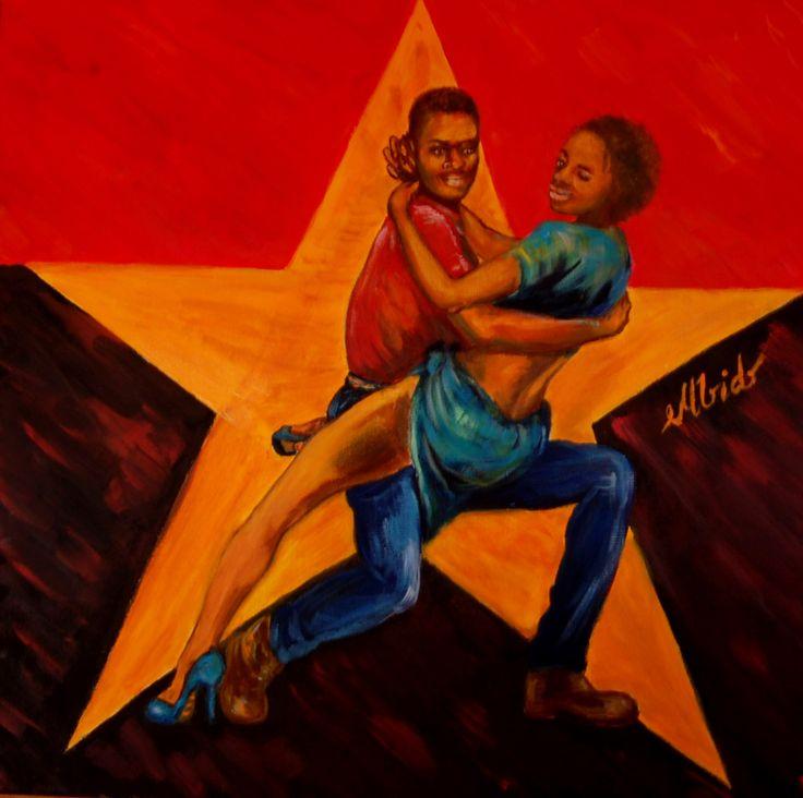 Semba, acrylics on  canvas, 50x50