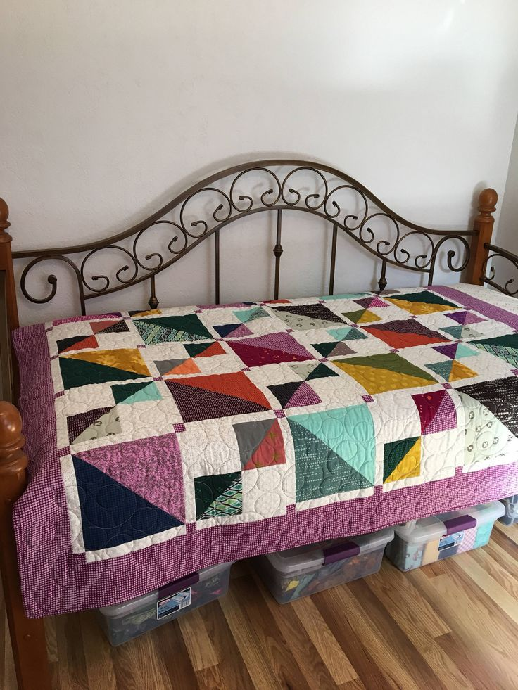 Modern Quilt 58x68 inches Twin Bed Topper Bed Coverlet