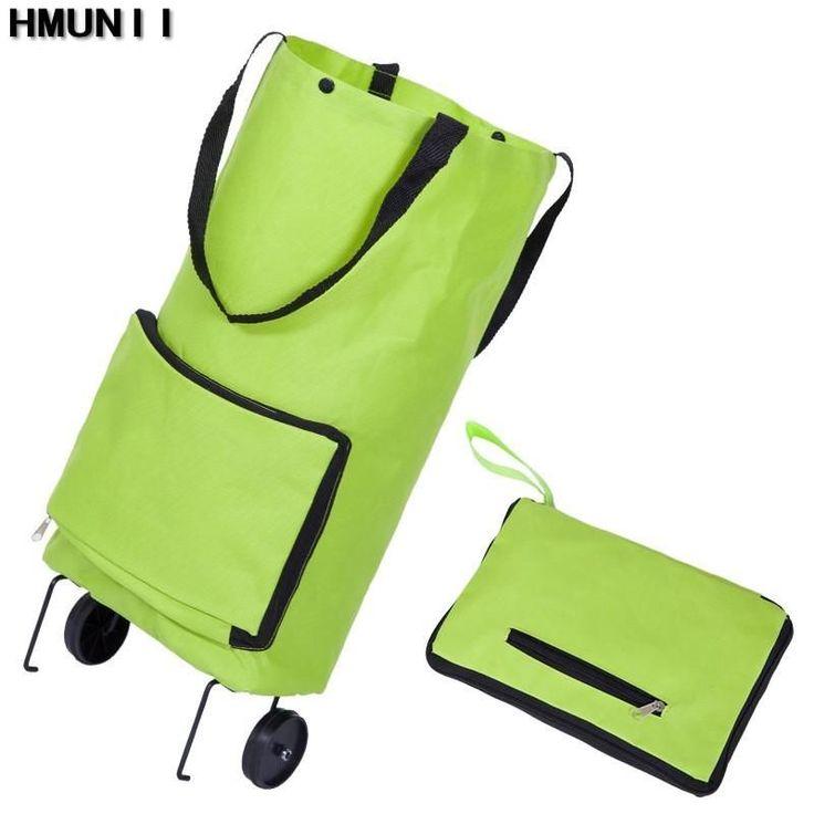 Folding Shopping Bag ,Shopping Trolley Bag on Wheels Bags , Grocery Shopping Organized Portable Bag (Free Shipping)