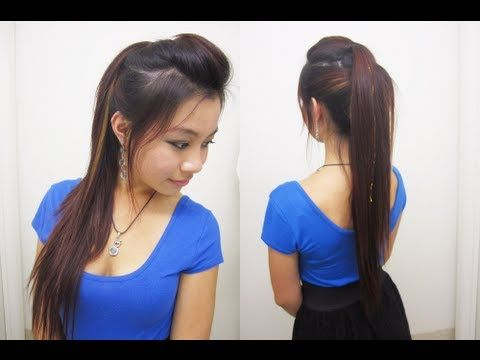 Trendy Layered Rocker-Inspired Ponytail. Wanna look like a rock star and blow everyone away? This hairstyle for you girl! (or guy i don't judge :p )