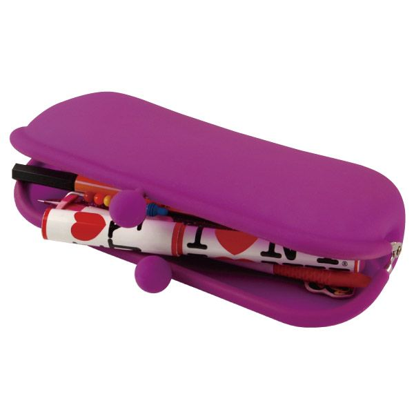"""The longer """"POCH III"""" purse can hold  writing implements, cosmetics, or other  such items and can be used at both work  and school. It also makes a great case  for eyewear."""
