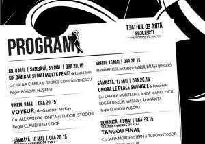 Program Teatrul De arta Bucuresti - luna mai