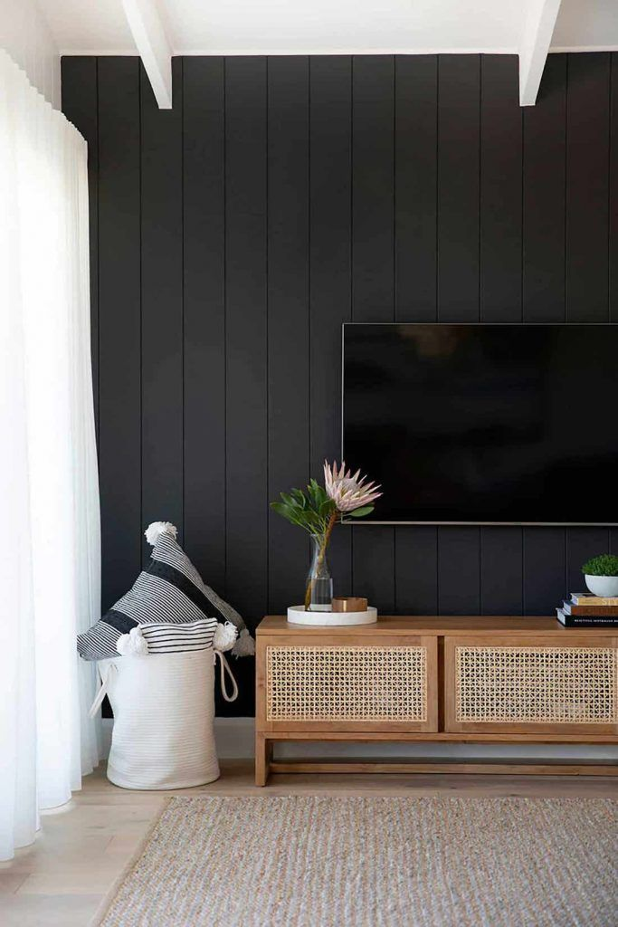 Go Bold And Get Inspired With Black Walls Style Curator In 2021 Black Accent Walls House Interior Black Walls