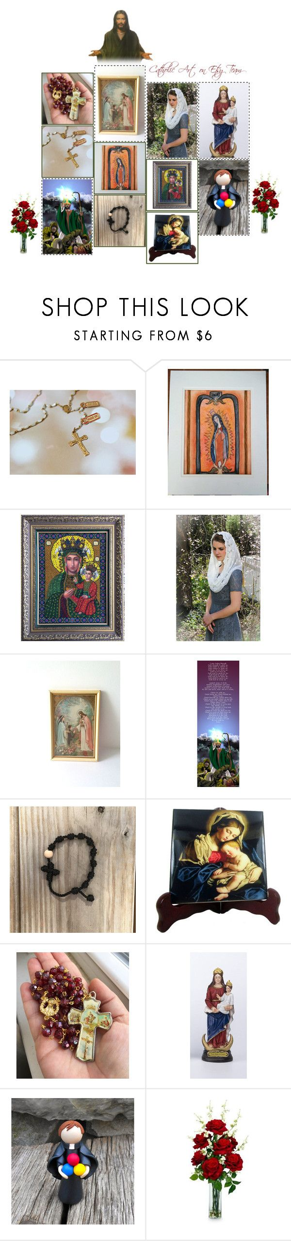 Home interiors and gifts paintings - Religious Art On Etsy By Terrytiles2014 Volume 409 By Terrytiles2014 On Polyvore Featuring Interior