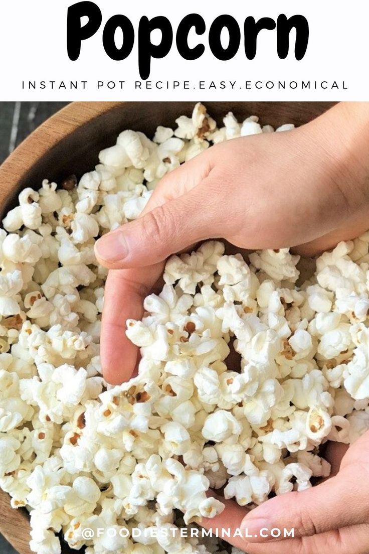 Learn to make the BEST fail-proof Instant Pot Popcorn with only 2 ingredients. Sttep by step Instant Pot Kettle corn wit…