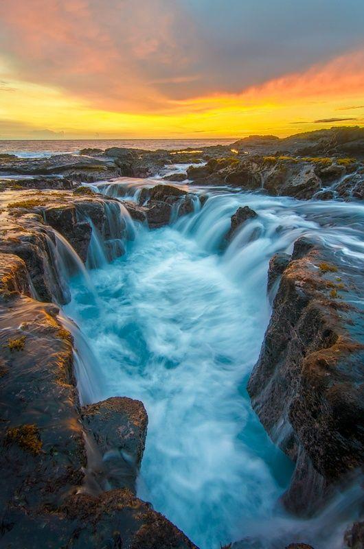 Keahole Puka Sunset ~ Hawaii