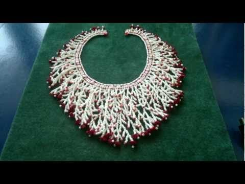 Video: Beading4perfectionists : How to add a fringe to a netted necklace beading…