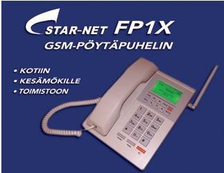 STAR-NET FP1X soveltuu erityisen hyvin niille, jotka ovat tottuneet perinteisen puhelimen käyttöön. Mutkikkaat matkapuhelimet jäävät helposti käyttämättä, koska niiden käytössä vaaditaan liikaa teknistä osaamista, tarkkaa näköä, vakaata kättä sekä toimintojen muistamista kuten akun lataaminen. KOTIIN, KESÄMÖKILLE, TOIMISTOON. Helppokäyttöinen, isot näppäimet, akku, puhelinluettelo, kaiutin, tekstiviestit, näyttö, hyvä ääni. Nostetaan luuri ylös, valitaan numero ja puhelu yhdistyy.