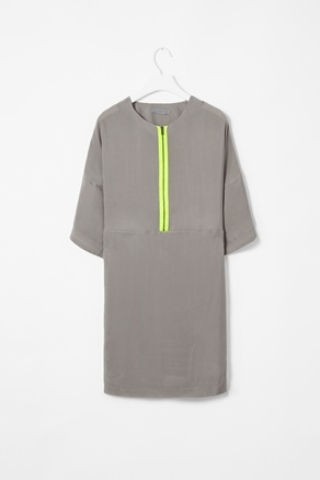 1 love grey and neons 2 love exposed zippers 3 love shift dresses