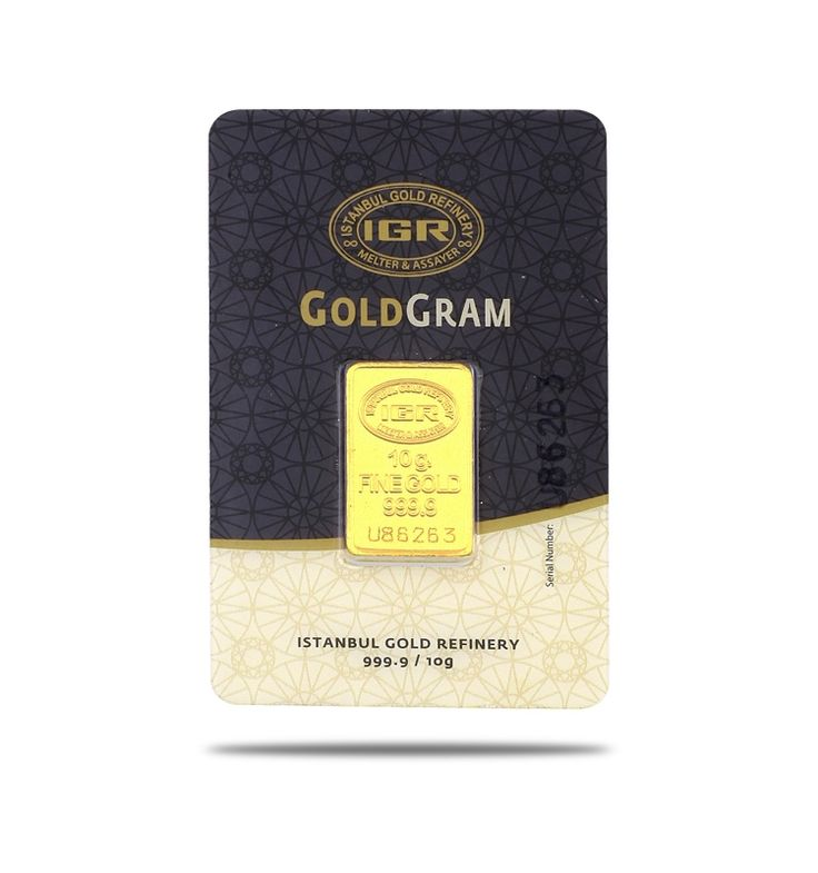 10 gr 999.9 Gram Külçe Altın / GRAMALTIN