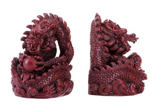 Hong tze dragon bookends bookends pinterest - Dragon bookend ...
