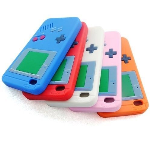 Silicone Rubber Gel Gameboy Case Skin Cover for iPod Touch 4 4th Generation  #Generic