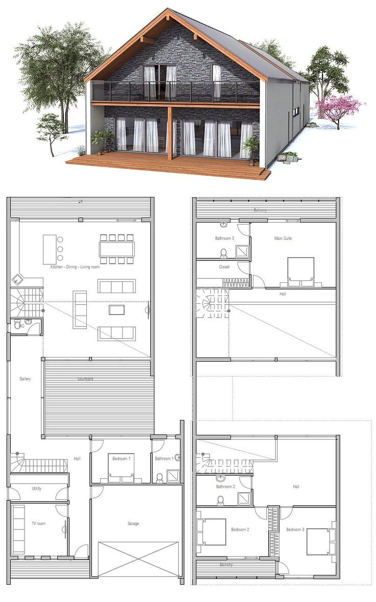 69 Best Images About Narrow House Plans On Pinterest