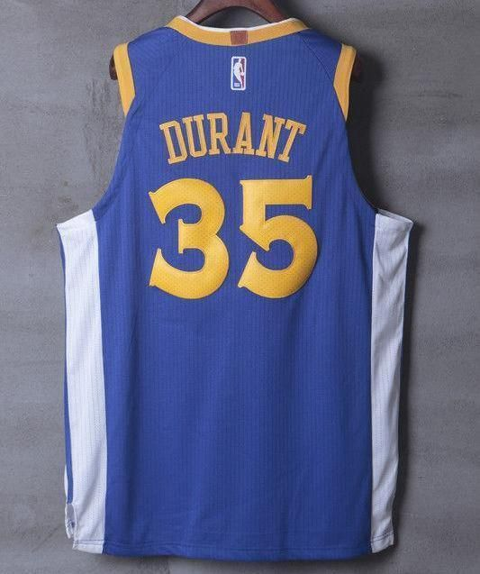 196fa3accda Men GSW 35 Kevin Durant Jersey Blue Golden State Warriors Player ...