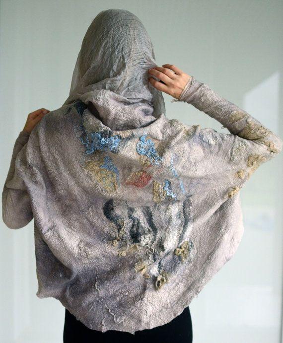 Moderne draperen body wrap trui nuno vilten vanaf wol en door vilte