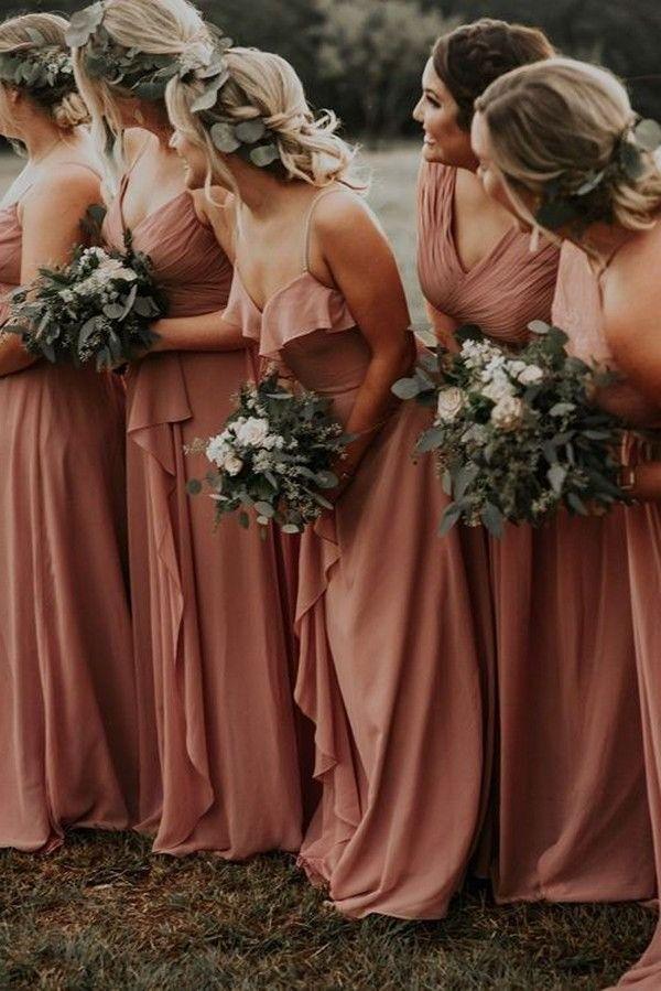 20 Rustic Bohemian Rust Wedding Color Ideas For 2020 Country Bridesmaid Dresses Fall Bridesmaid Dresses Rust Bridesmaid Dress