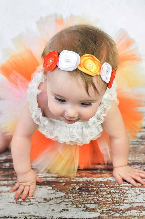 Candy Corn Fall Headband  Photo Prop  Baby by SparklesButterflies, $9.95