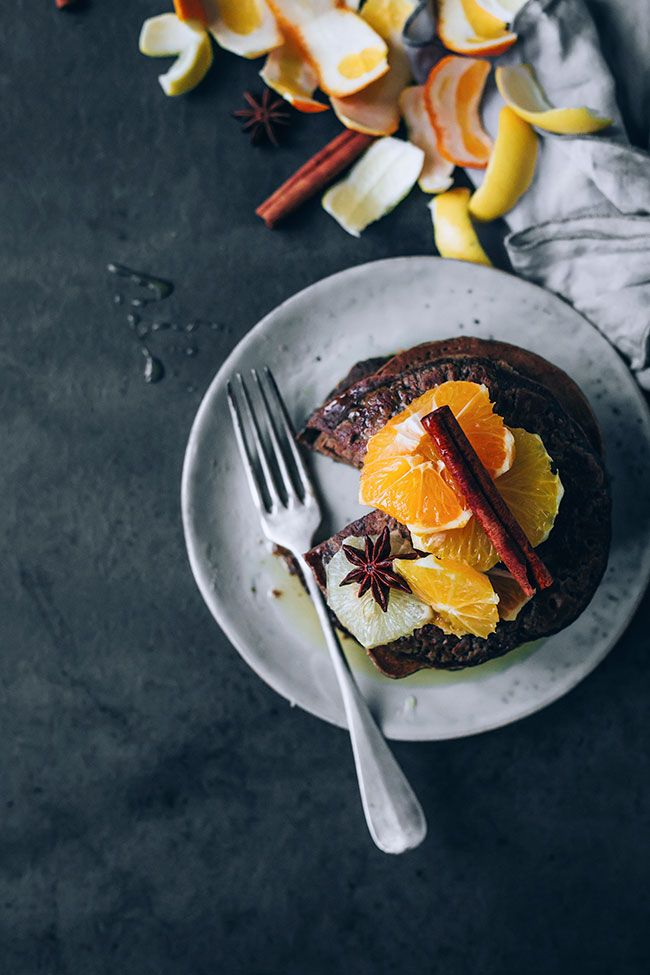 Oat Pancakes with Citrus Compote