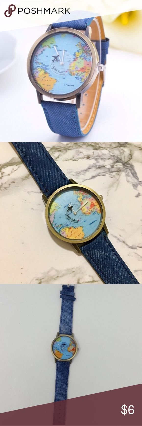 The 25 best urban outfitters watches ideas on pinterest map unisex travel watch urban outfitters map backgroundworld gumiabroncs Choice Image