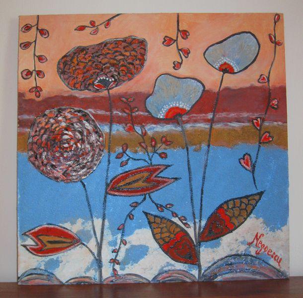 Tecniche miste - Quadro marino-pittura materica - un prodotto unico di Oggetti-cuciti-e-ricamati-da-Monica su DaWanda