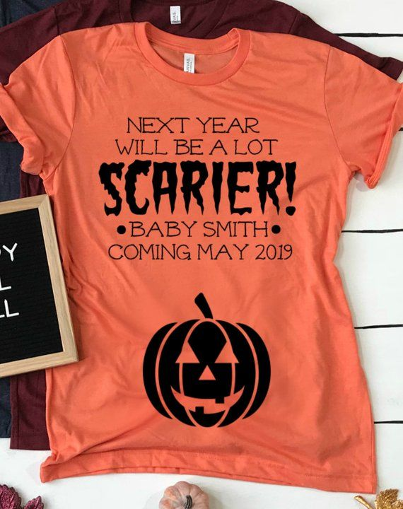 490005bf Halloween Pregnancy Announcement Shirt for mom, Baby Announcement ...