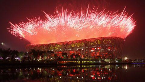 Cai Guo-Qiang, Empreintes d'histoire, du projet d'artifice pour la cérémonie d'ouverture des Jeux Olympiques de Pékin 2008.