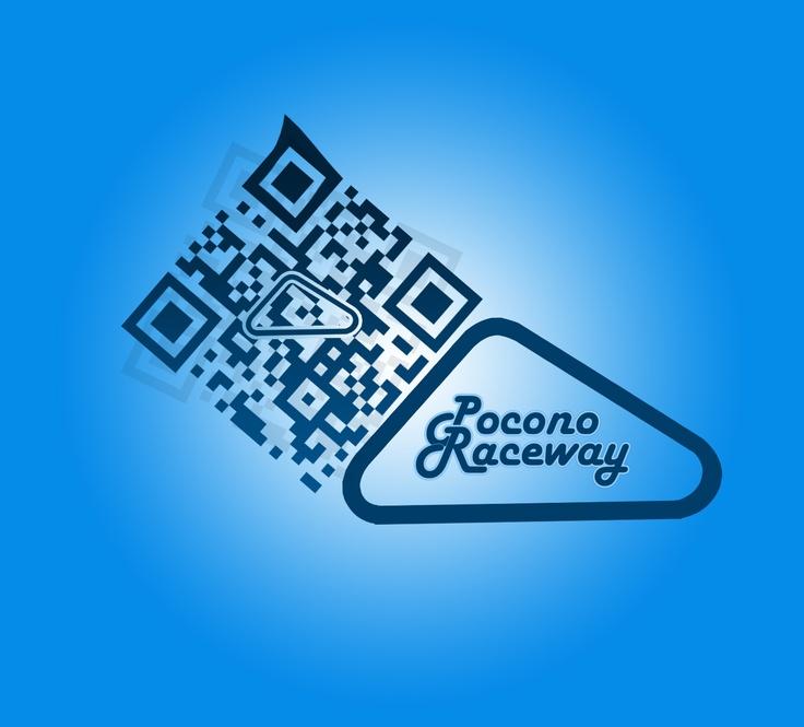 Custom QR Code for the Pocono Raceway