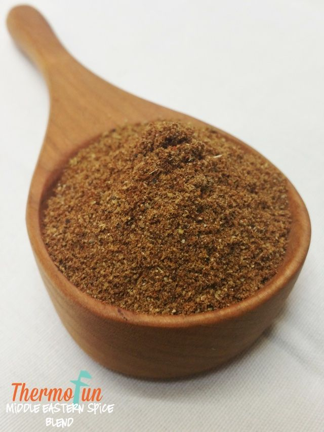 I really love this particular spice blend – its blend of sweet and smoky spices is great in sausage rolls, pasties, burgers and rubbed over red meats before cooking.  You can use ground spices, or seeds/pods and mill them in the Thermomix. For more of my spice blends Click Here Print ThermoFun – Middle-Eastern Spice...