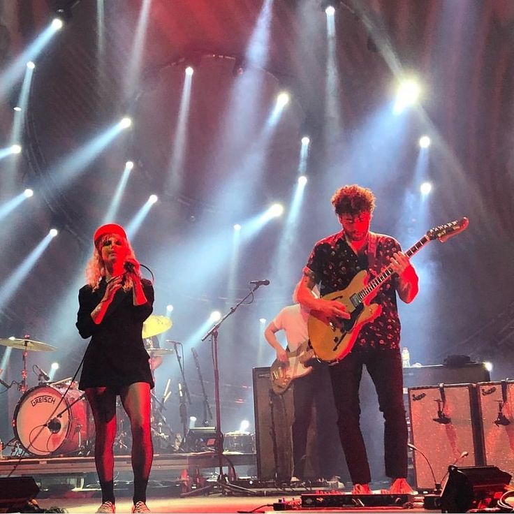 Paramore on stage at the Sant Jordi Club in Barcelona, Spain - 01/07/18