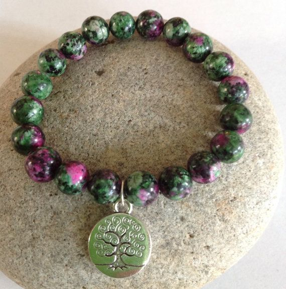 Womens Power Bracelet. Ruby in Zoisite by SimpleLivingJewelry, $14.00