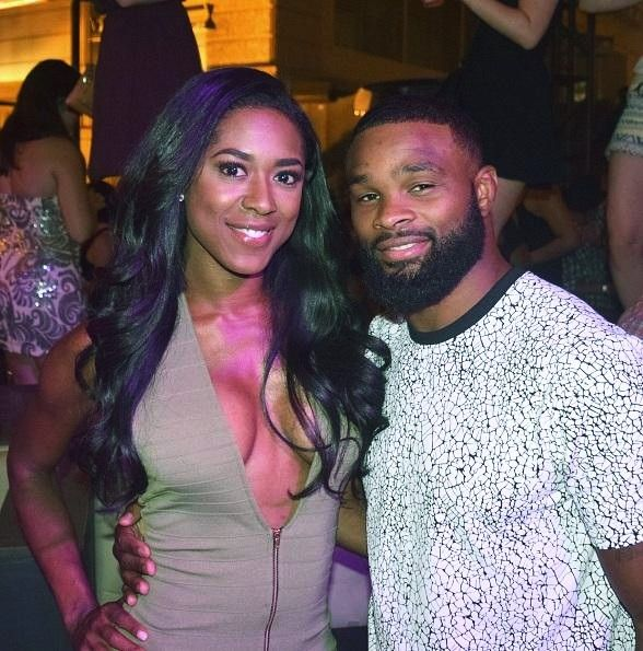UFC Fighters, Shaunie O'Neal and Miss Canada Spotted at Chateau Nightclub & Rooftop at Paris Las Vegas (Pictured: Shaunie O'Neal and Tyron Woodley – Photo courtesy of Chateau Nightclub & Rooftop)