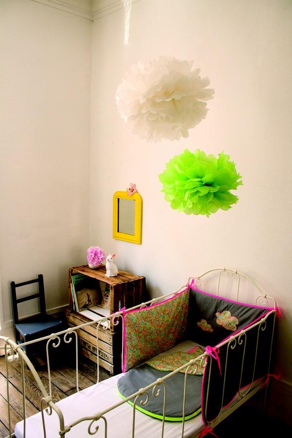 kids room with pompoms