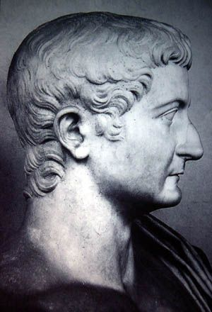 Tiberius, the 2nd Roman Emperor. Born 16 November 42BC. Died 16 March 37AD. Reigned 14 AD to 37 AD. Born Tiberius Claudius Nero, son of Tiberius Claudius Nero & Livia Drusilla. His mother divorced Nero and married Augustus in 39 BC making him a step son of Octavian. He married Augustus' daughter Julia & was adopted by Agustus.