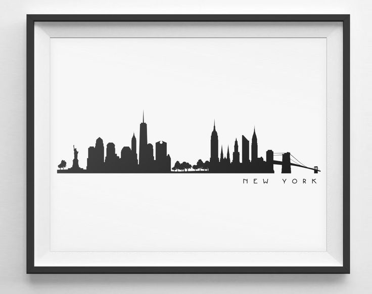 New York City Black and White Skyline --- Plus Clipart Pack!!!   ~ Instant Download ~   Included:  1 Zip Folder Containing:   ~ Skyline Vector