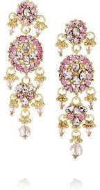 Isharya18-karat gold-plated cubic zirconia earrings