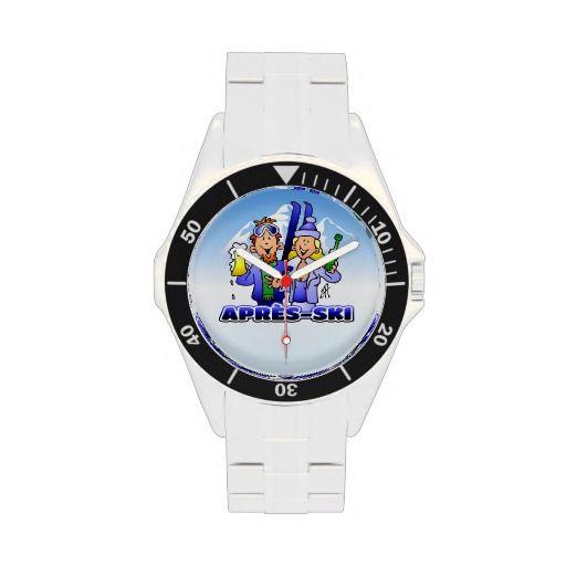 Apres-ski Wristwatch #Zazzle #Cardvibes #Tekenaartje #Winter #Wintersports #Ski #Skiing